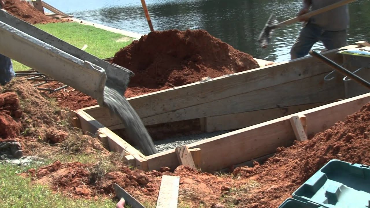 Building of the Boat Dock at Big Pines Lodge - YouTube
