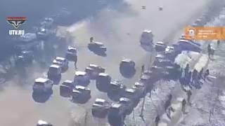 В Уфе в результате массового ДТП с участием 5 автомобилей пострадал пешеход