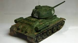 T-34-85 (из картона в масштабе 1/72)