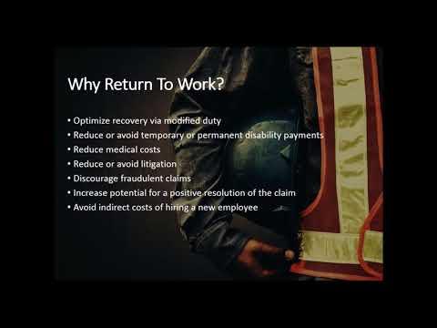 03.21.2018  Establishing Your Return To Work Program
