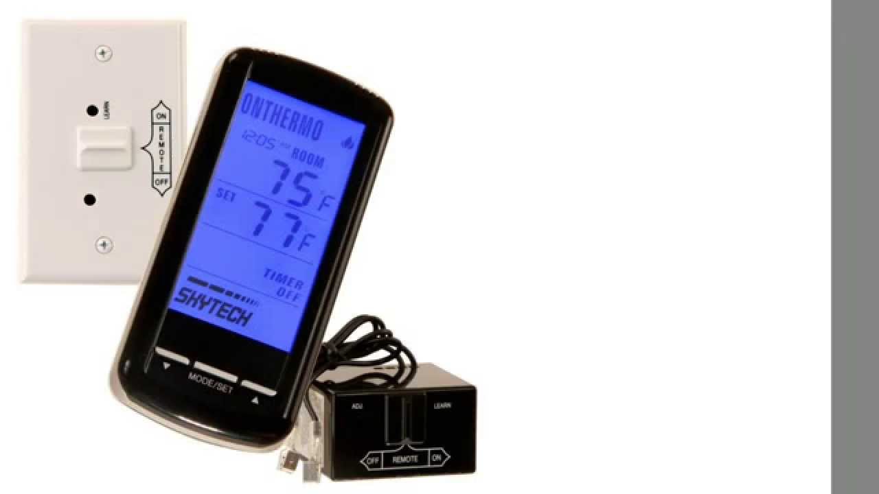 Skytech SKY5301 Backlit LCD Touch Screen Fireplace Remote Control with TimerThermostat  YouTube