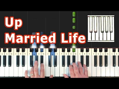 Married Life - Up - Piano Tutorial Easy - How To Play (Synthesia) - Pixar