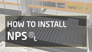 How to install NPS® L: column, beam and steel decking