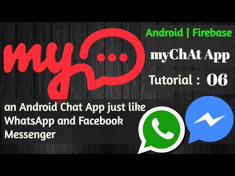 Android Chat App Using Firebase - MyChAt App - 06 Design UI For Login And Register Activity