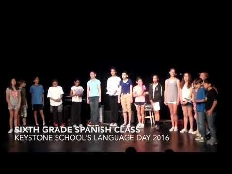 KEYSTONE SCHOOL'S  Sixth Grade sings Katie Perry's Roar - Language Day 2016