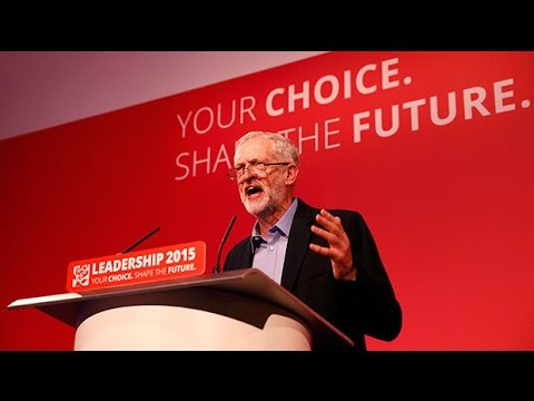 Cheers as Jeremy Corbyn wins Labour leadership contest