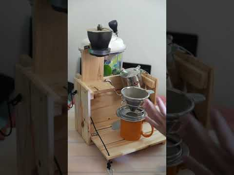 [DIY] Modify Wood Box Into a Coffee Station