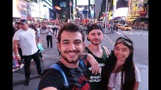 NEW YORK'UN EN CANLI YERİ   TIMES SQUARE!  AMERİKA VLOG #2