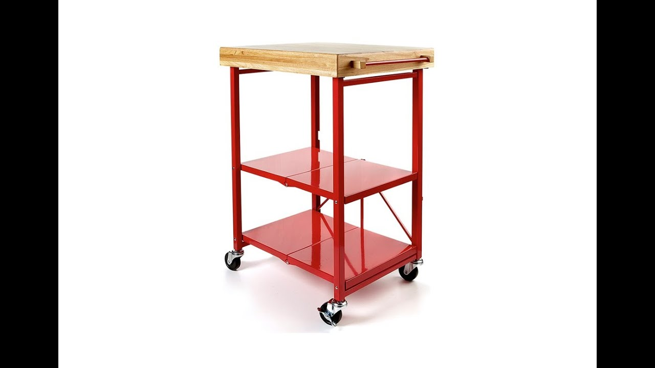 Origami Folding Kitchen Island Cart Ash Cabinets Hsn Item 191291 Youtube