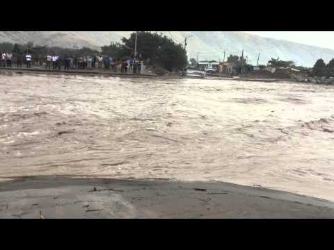 Overflown river near Pescadores, Peru