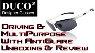 #Duco Mens Driving and Multi purpose glasses with AntiGlare Unboxing and Review