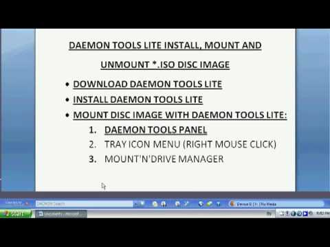 daemon tools lite install mount and unmount iso disc image youtube. Black Bedroom Furniture Sets. Home Design Ideas