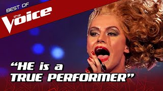 Male Talent in DRAG QUEEN outfit SHOCKS The Voice coaches