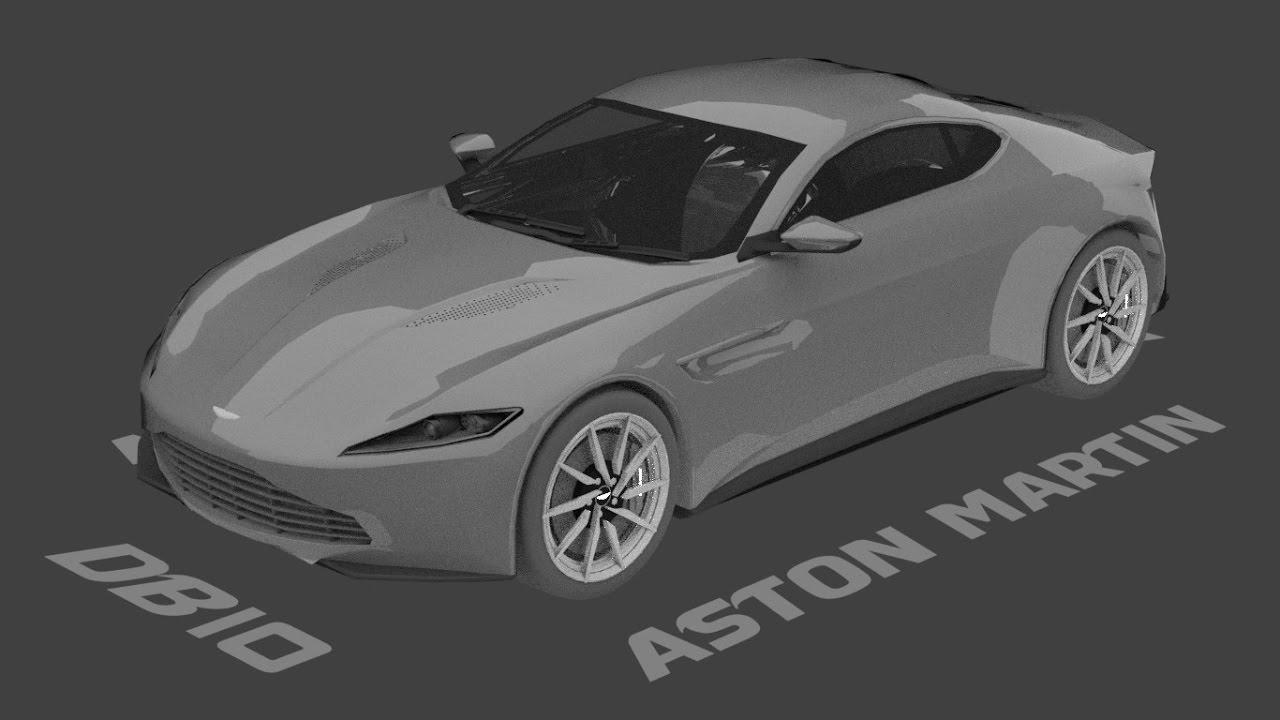 aston martin db10 speed model timelapse - blender car modeling