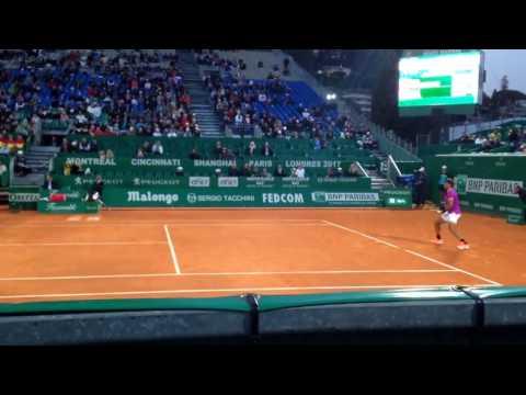 Rafael Nadal 28 SHOT RALLY vs Diego Shwartzman court level 2017 Monte Carlo Rolex Masters