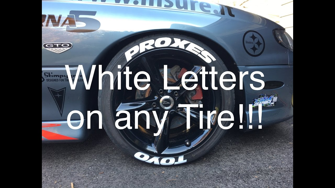 installing white letters on your tires