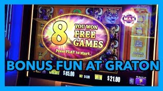 SLOT MACHINE BONUSES IN REAL LIFE AT THE CASINO  😜 @ Graton Casino | NorCal Slot Guy