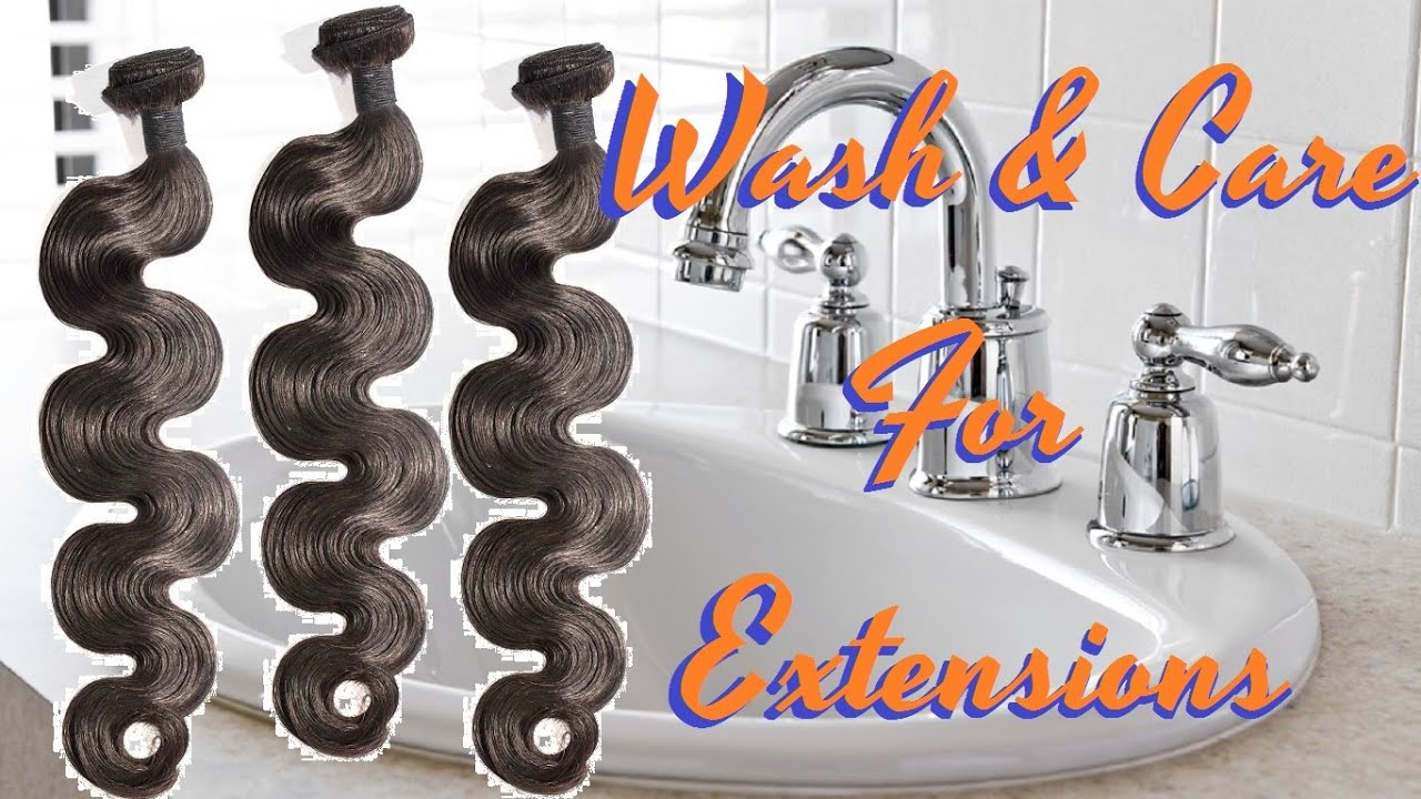 How To Wash And Care For Hair Extensions Best Shampoo And Deep
