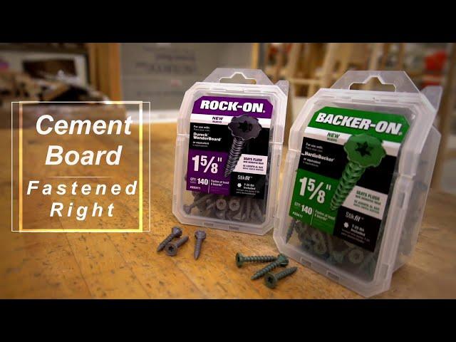 Backer On & Rock On Cement Board Screws