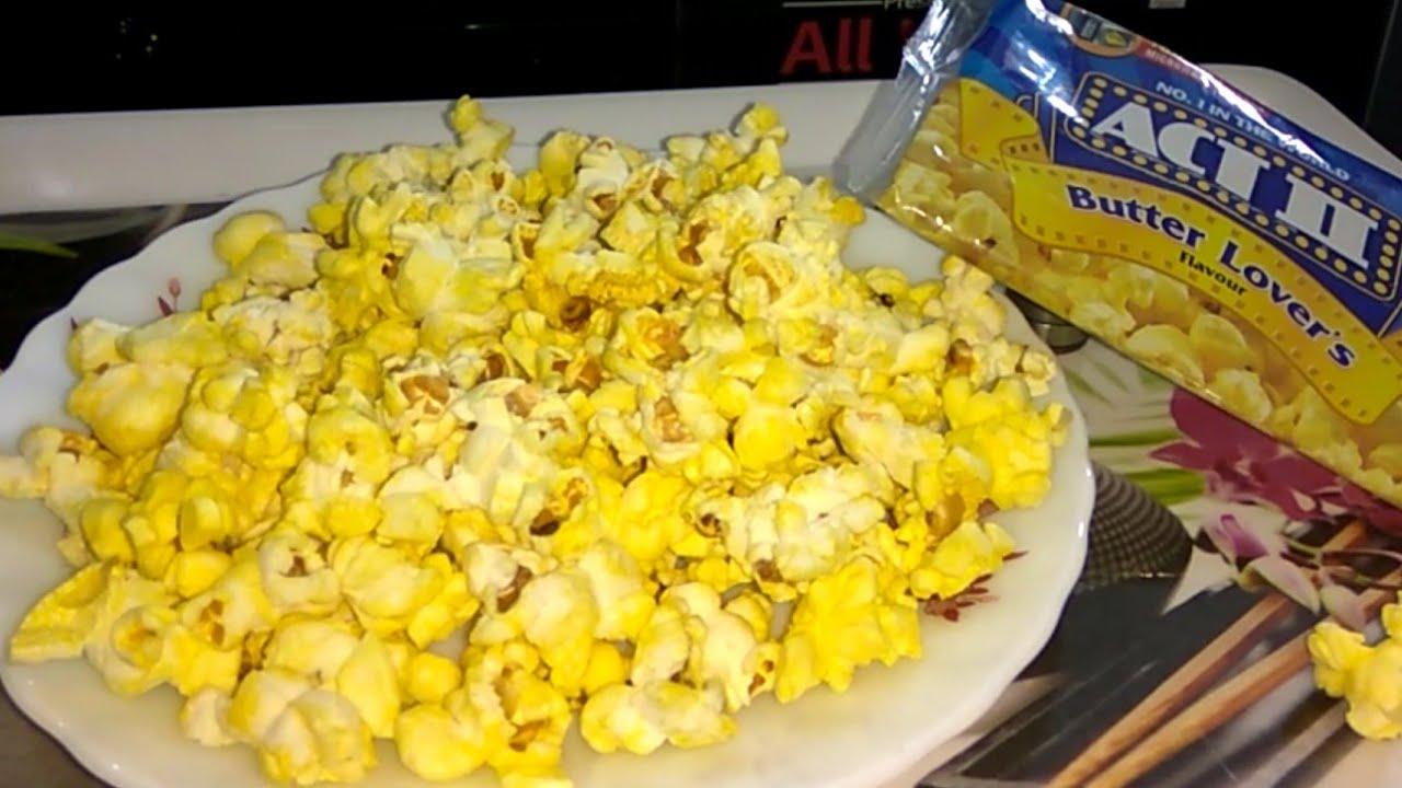 act 2 popcorn in microwave oven instant act ii butter lovers popcorn recipe in hindi