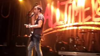 Alex Gaskarth giving a little speech about believing in yourself Live at the Melkweg in Amsterdam