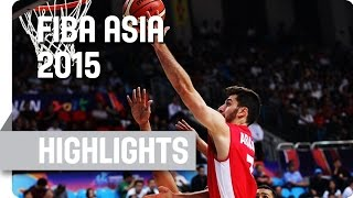 Qatar v Lebanon - Classification 5-8 - Game Highlights - 2015 FIBA Asia Championship