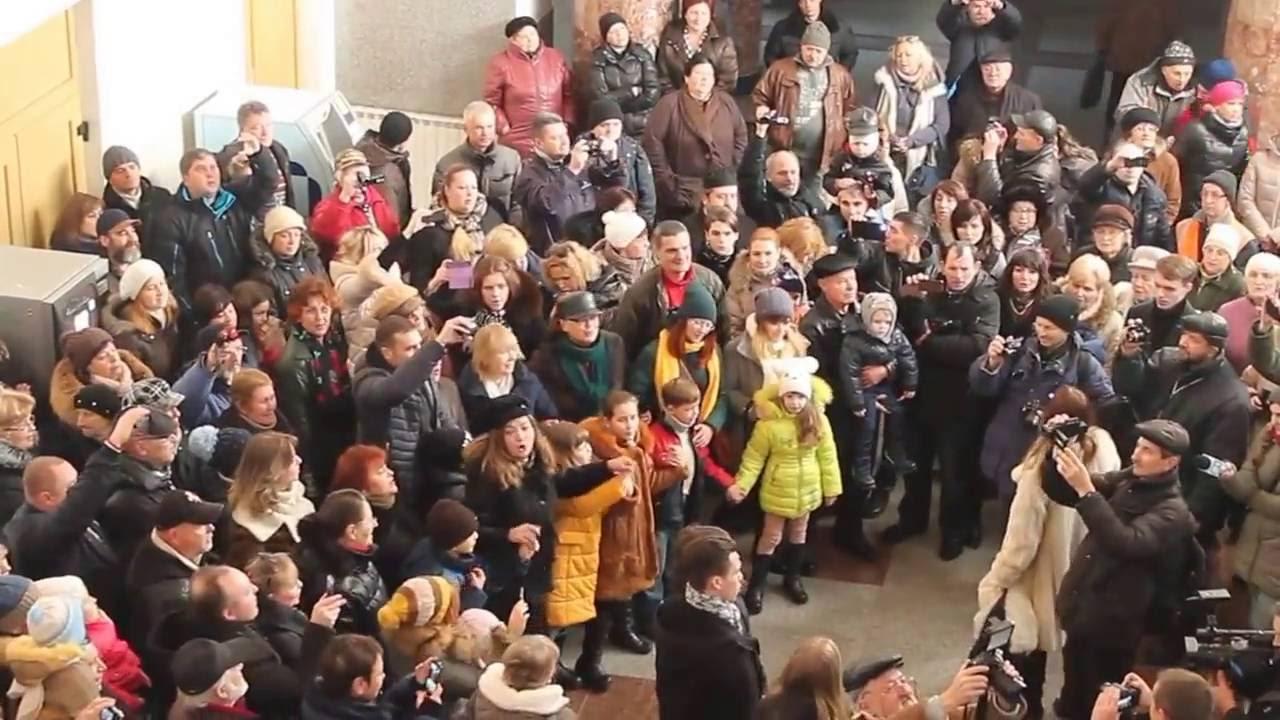 «Я люблю тебя, жизнь!» - Флэшмоб в Кишинёве, 04.12.2016