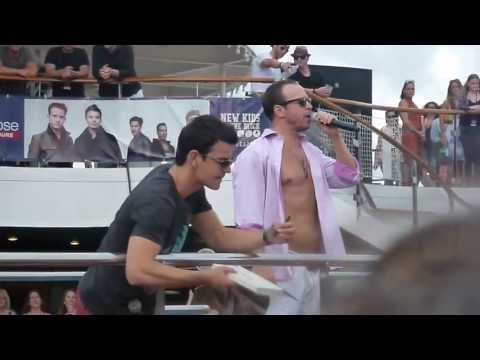 NKOTB Cruise 2013 - Deck party mashup!  part 1
