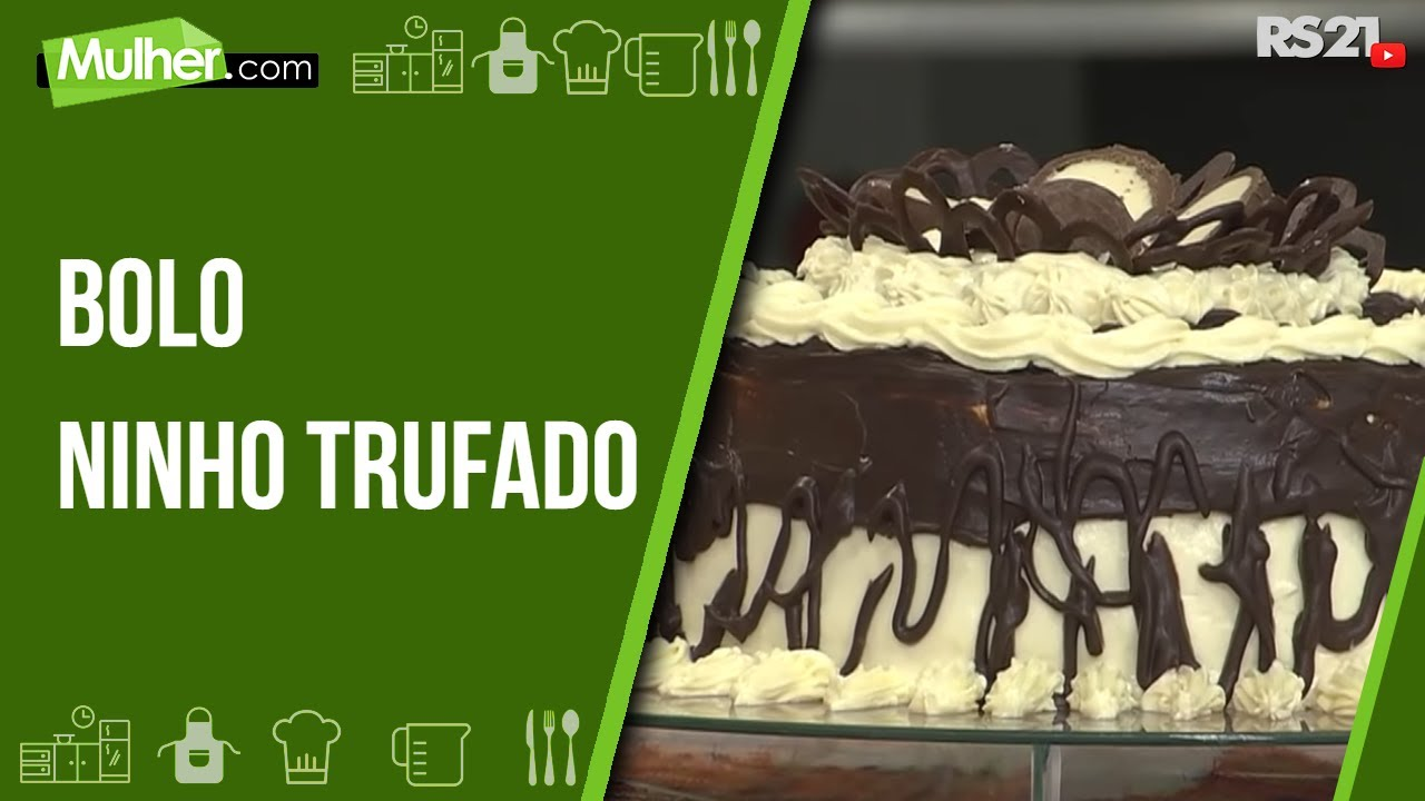 Super Receitas bom sabor 29/05/2013 - Bolo ninho trufado - YouTube DS21