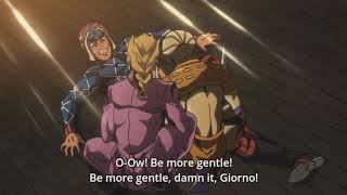 JoJo Part 5: Golden Wind EP19 - Giorno Gives Mista The S U C C Scene