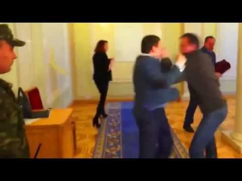 Fighting of deputies Sobolev and Ivchenko in the Supreme Council of Ukraine