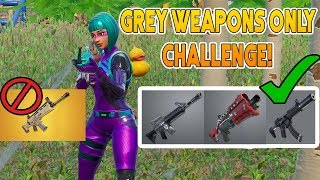 Grey Weapons Only Challenge Fortnite - Vbuck Giveaway Winner !