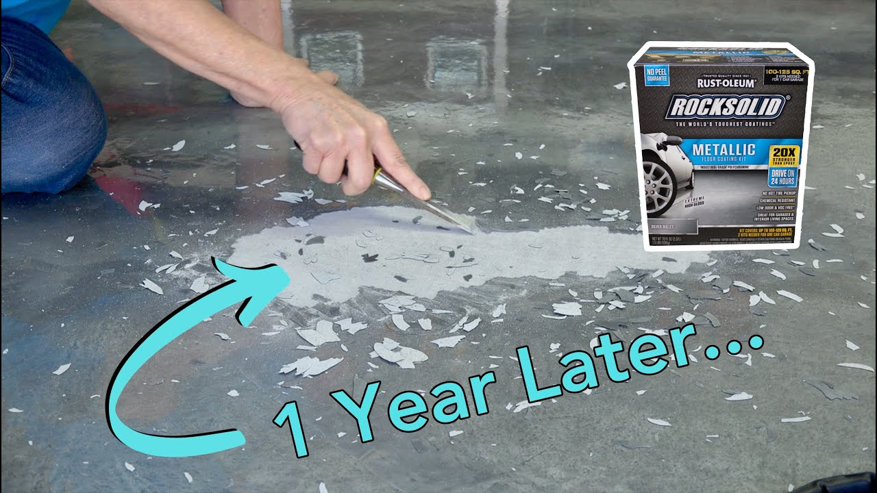 Rocksolid Garage Coating 1 Year Later Part 3