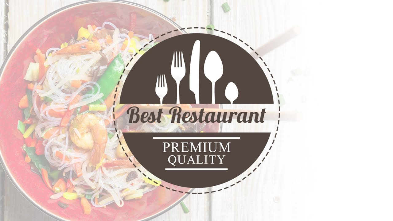 how to design a restaurant logo in photoshop tutorial - youtube