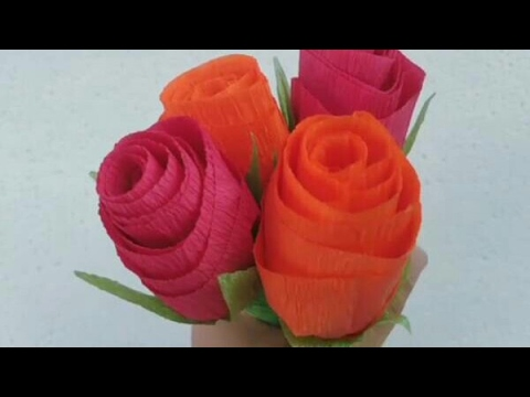 Diy How To Make Realistic Easy Rose Flowers With Paper