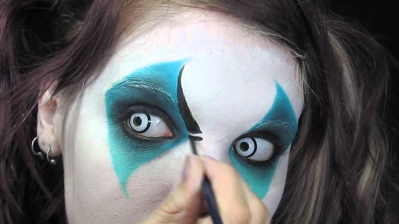 harlequin creepy clown makeup tutorial youtube. Black Bedroom Furniture Sets. Home Design Ideas