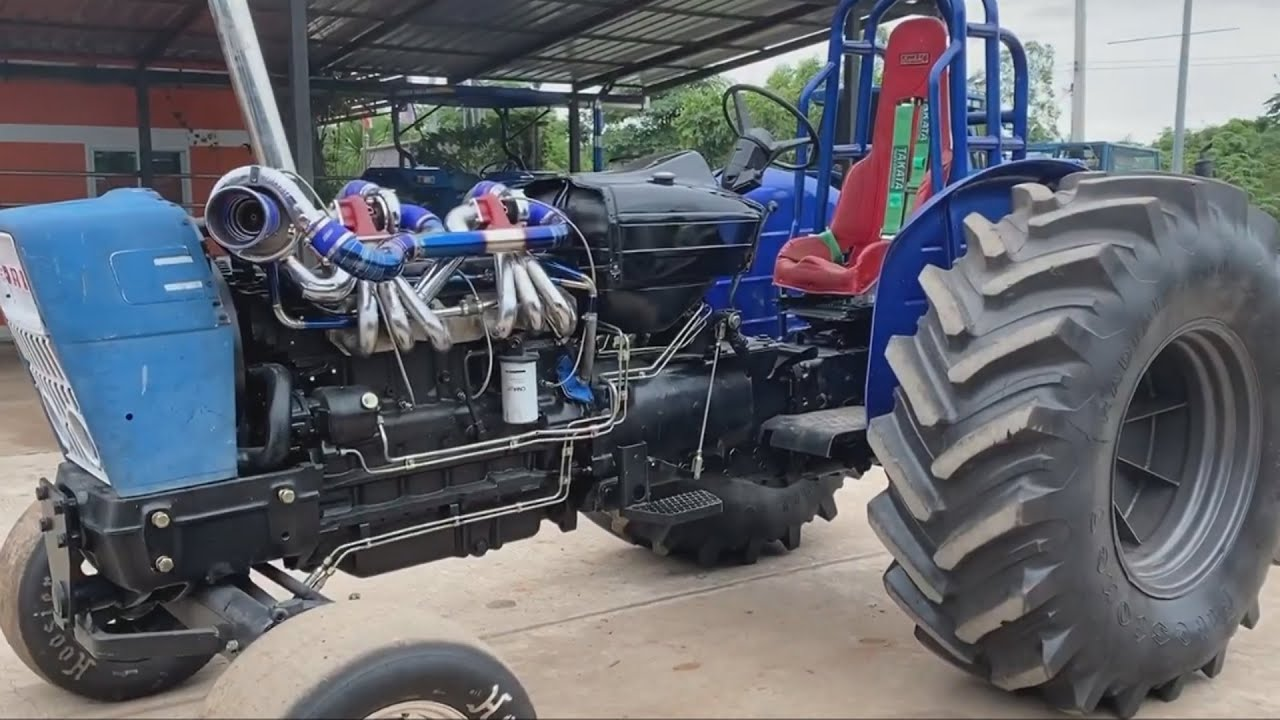 TRACTOR Triple TURBO Dragster  FORD 5000 Modified