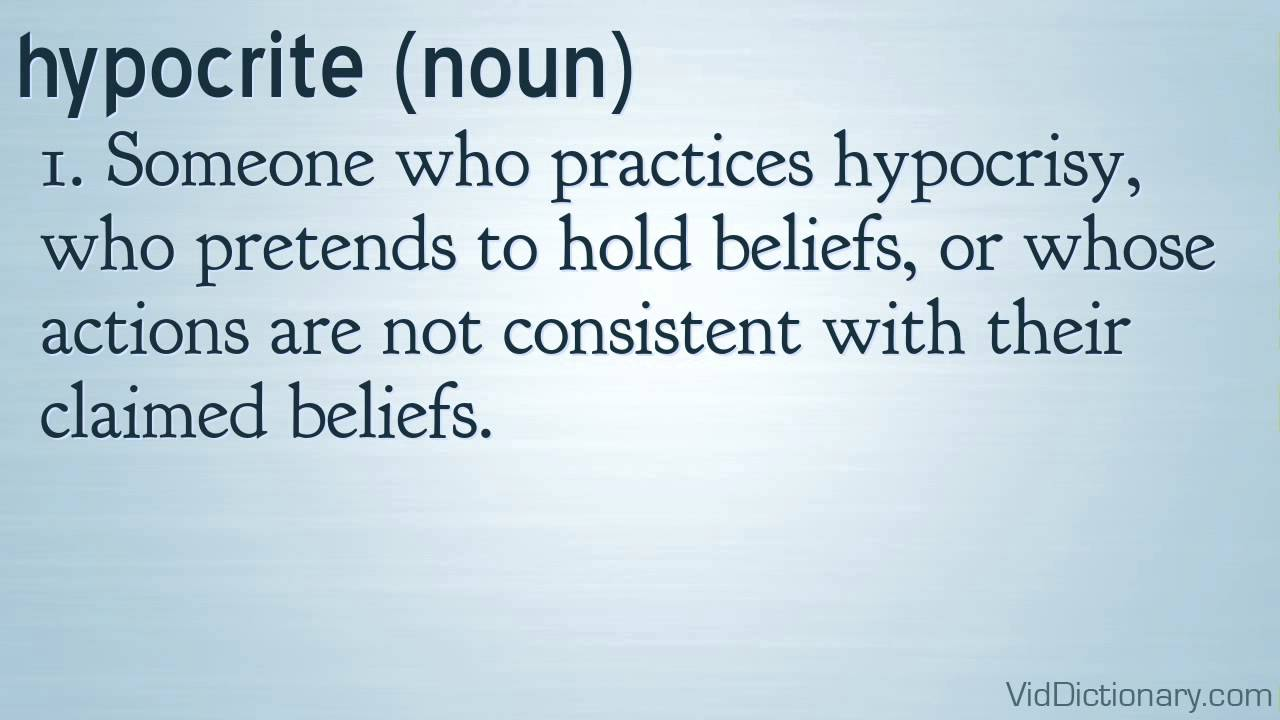 hypocrite - definition - YouTube
