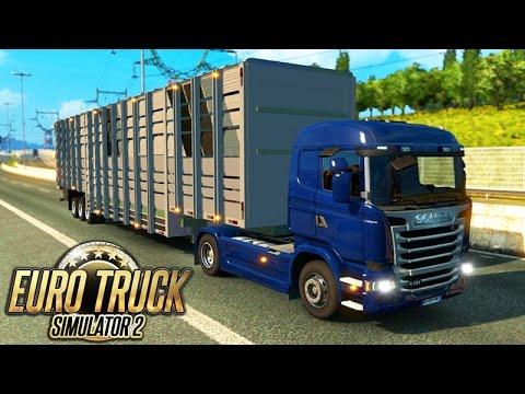 Euro Truck Simulator 2 - CARGA BOIADEIRA muito PESADA!!!