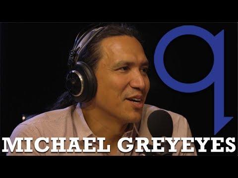 Michael Greyeyes' reaction to playing his hero on screen