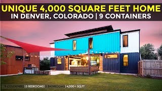 Unique Shipping Container Home built from 9 Shipping Containers | 5200 Wyandot St, Denver, Colorado