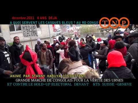 [ TnpInfos ] Marche des Congolais devant RTS 17 DECEMBRE 2011 à Genève Suisse