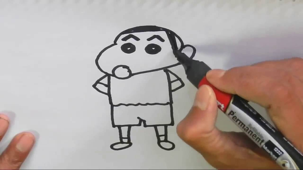How To Draw Shin Chan Step By Step For Kids Beginners Youtube