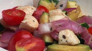 Food: Grilled Veggie Summer Salad Recipe - The Sarah Fit Show