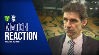 Karanka reflects on defeat | Norwich City 1-0 Blues