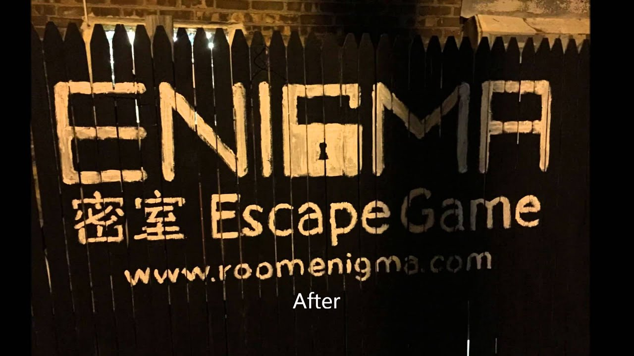 Room Enigma NYC Escape Game Store Logo Painting