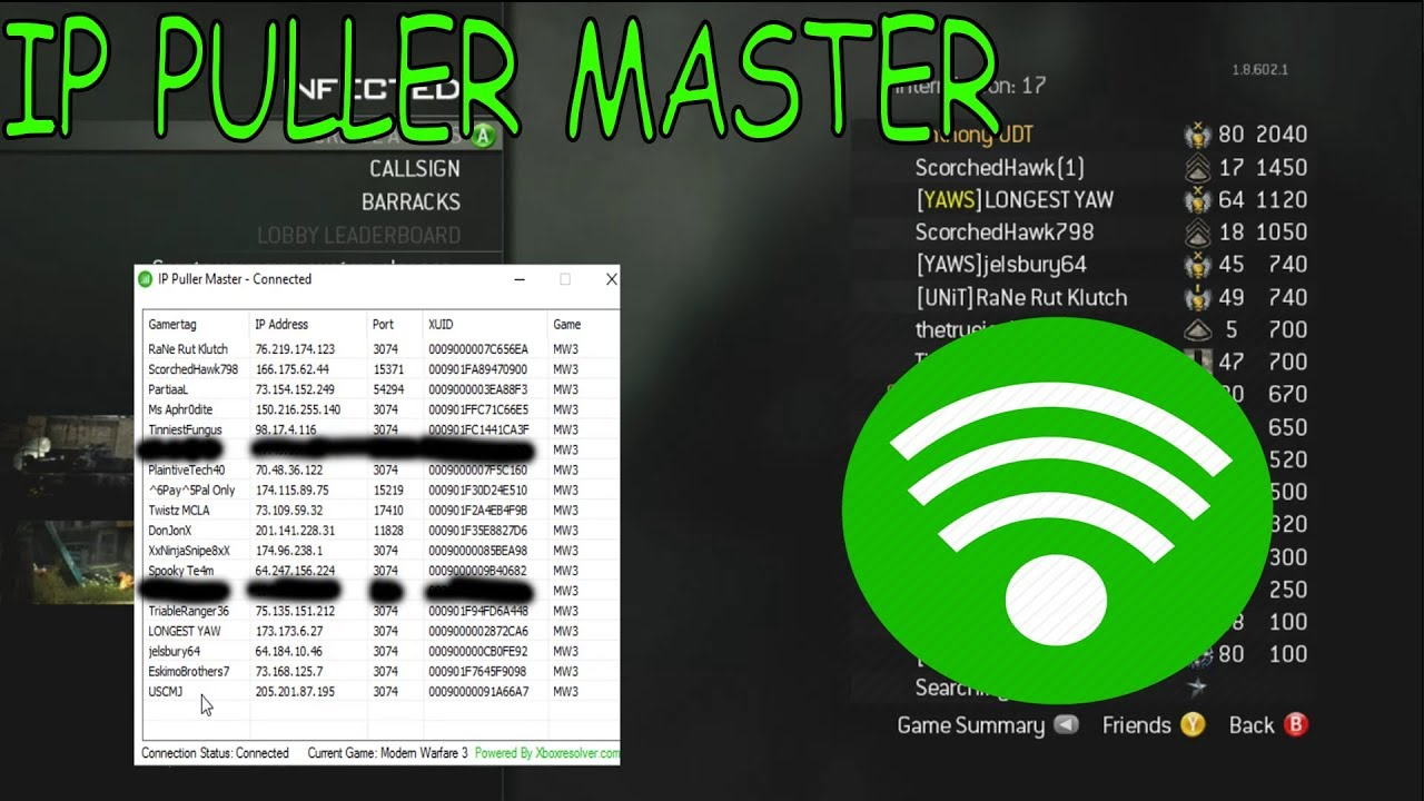 NEW! IP PULLER MASTER by XboxResolver PULL IPS [RGH/JTAG