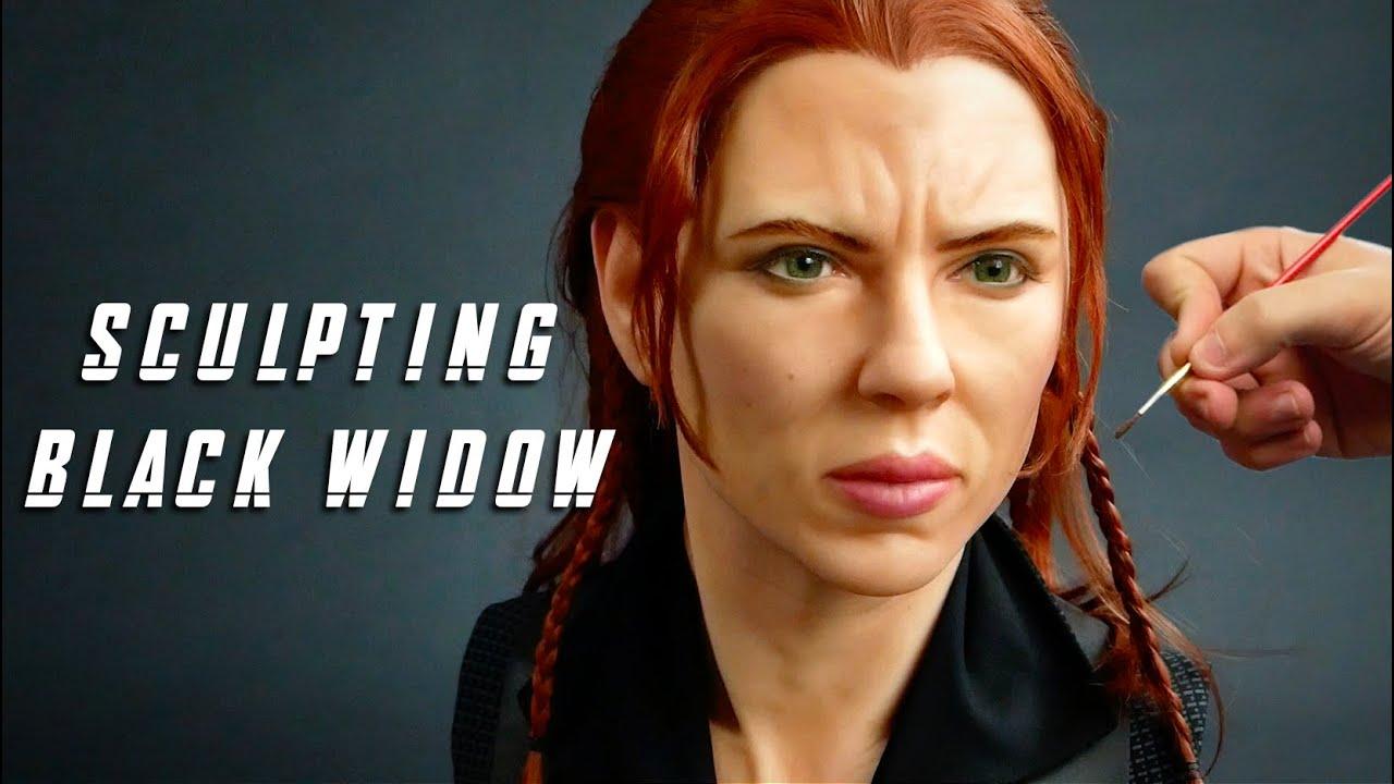Black Widow Sculpture Timelapse - Black Widow