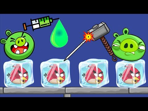 Unfreeze Angry Birds - RESCUE THE FROZEN ANGRY BIRDS BY DROPPING GREEN WATER!!