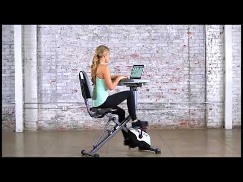 Image result for Exerpeutic WorkFit 1000 Fully Adjustable Desk Folding Bike with the pulse